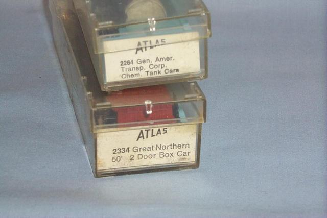 2 Atlas N Scale Toy Train Cars in Original Boxes