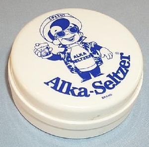 White ALKA-SELTZER Collapsible Advertising Cup