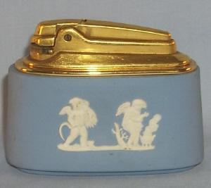 Blue Ronson Wedgwood Table Lighter - Tobacciana