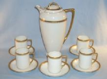 Austrian Porcelain CHOCOLATE POT SET
