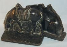 Black Painted RIDERLESS HORSE Cast Iron Bookends - Metalware