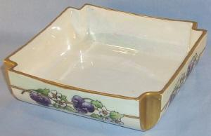 Delicate LIMOGES Square Porcelain Pin Dish