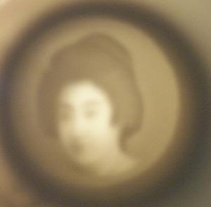 ORIENTAL Lithopane Demitasse Porcelain Cup