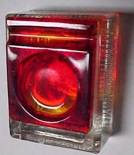 Red Top  Glass Inkwell - Glass