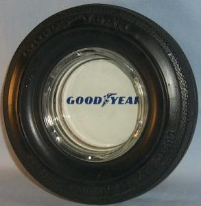GOODYEAR Custom Power Cushion Polyglas Advertising Tire Ashtray - Tobacciana