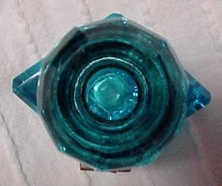 Cut Blue Diamond Inkwell Ink Well - Glass