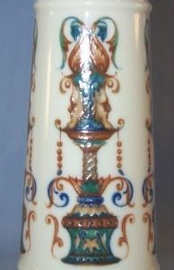 ROYAL BAYREUTH 2 Handled FOX HUNT Porcelain Vase
