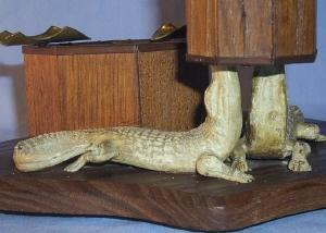 Unique ALLIGATOR Wooden Matchholder and Ashtray - Misc.