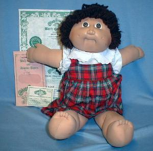 vintage 1980's Cabbage Patch Pony-Tail Doll VERA BAMBI - Xavier Roberts Toy baby doll