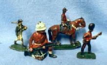 vintage UNION Lead Toy Soldier Group - Mounted Police