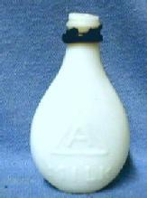 old vintage Small Milk Glass Baby Doll Bottle - Nurser Toy