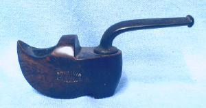 Tobacco Pipe  Burled Wood Smoking Pipe - SHOE Shaped Souvenir of Holland - tobacciana