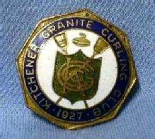 old Kitchener Granite Curling Club Pin Sport