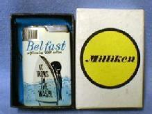 vintage  Cigarette Lighter Musical - BEL FAST Self-ironing 100% Cotton Advertising - tobacciana NIB
