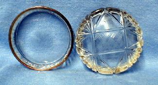 Cut Glass Snuff Box - Patch or Pill Box