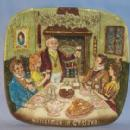 Colorful Beswick Royal Doulton CHRISTMAS IN ENGLAND Porcelain Hanging Decorative Plate in Original Box
