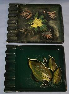 Two SASCHA BRASTOFF Pottery Ashtrays