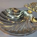 Chrome Plated CLAM SHELL Snack Bowl - Metalware