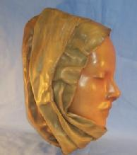 Woman's Face Hanging Leather Mask - Misc.