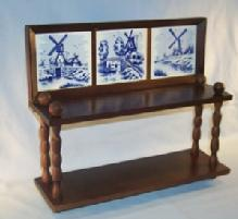 Delicate DELFT Tile Decorated Wall Shelf - Furniture