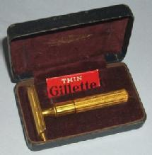 GILLETTE Gold Plated Shaver in Original Case - Metalware