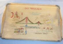 SAN FRANCISCO Advertising Hand Painted Birch Serving Tray