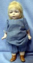 old Bisque Blue Eye Doll - Vintage German old
