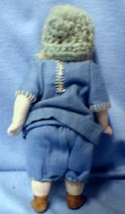 German Bisque Blue Eye Doll - Vintage German old