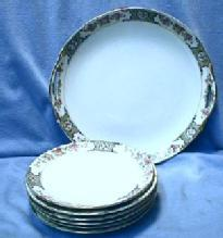 Nippon 7 pc Dessert or Cake Set - Vintage Pottery