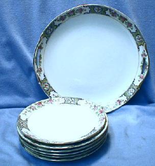 Nippon 7 pc Dessert or Cake Set - Vintage Pottery