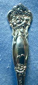 vintage Wallace Sterling Silver CORNATION Teaspoon - 1909
