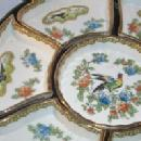 Nippon Seven Piece Porcelain Relish Set in Enameled Box