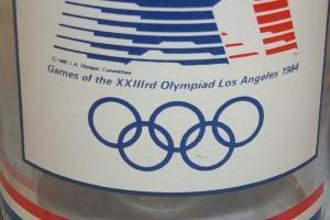 Oversize  LOS ANGELES 1984 OLYMPIAD Glass Mug