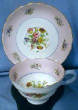 Copelands Grosvenor Wildflowers Vintage Cup and Saucer - Fine English Bone China Porcelain Teacup