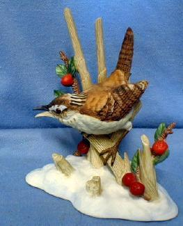 old Lenox  Birds Figurine MARSH WREN  Vintage 1990 Porcelain
