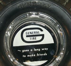 GENERAL TIRE Advertising Ashtray - Tobacciana