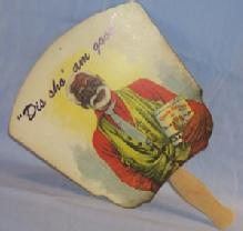 Reproduction Black Americana UNCLE REMUS Syrup Advertising Fan - Ethnographic