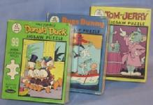 BUGS BUNNY, TOM & JERRY, and DONALD DUCK Jigsaw Puzzles - Paper