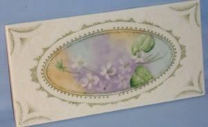 Beautiful Italian Ceramic Flower Design Tile - Pottery