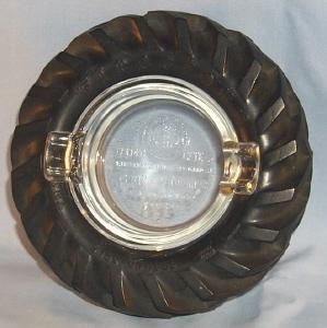 FIRESTONE 1939 Golden Gate International Exposition Tractor Tire Ashtray - Tobacciana
