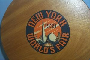 NEW YORK 1939 WORLD'S FAIR Wood Portable Seat - Furniture