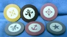 old Vintage original Clay Poker Chip Group - Gaming Misc