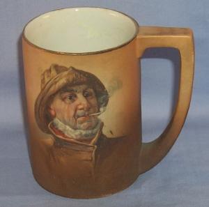 IOGA Warwick OLD FISHERMAN Porcelain Mug