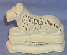 White SCOTTIE DOG Cast Iron Doorstop - Metalware