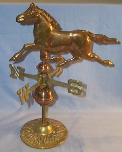 Brass & Copper Decorative Desktop HORSE WEATHERVANE - Metalware