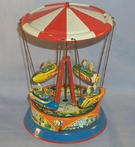 German Spring Driven Toy Circus Carousel