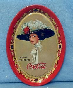 Tin Coca-Cola Tip TRAY -  Advertising - Tin metalware