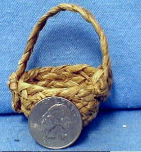 old American Indian  Woven Basket - Miniature ethnographic