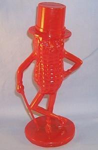 Red Plastic MR. PEANUT Bank - Toys