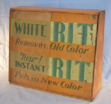 Orange RIT Dye Metal Display Advertising Cabinet